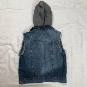 Volcom Jackets & Coats - Denim Vest with detachable sweatshirt hood